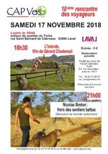 samedi 17 novembre 2018 10 eme rencontre des voaygeurs Cap Vers
